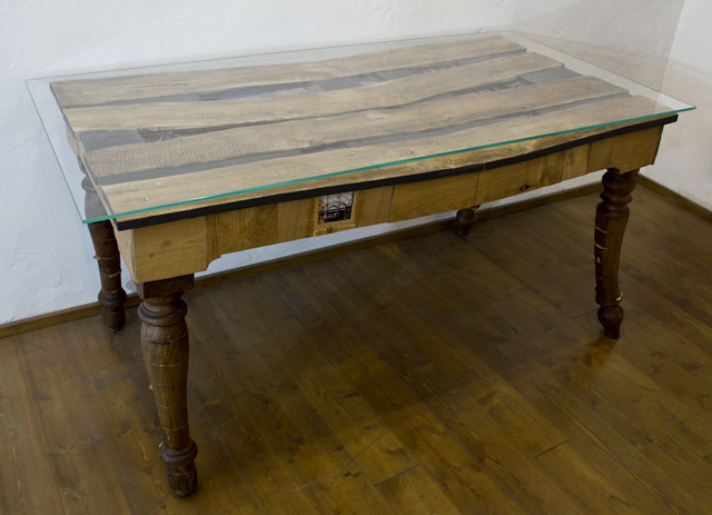 Used Materials: Old Poplar Wood, Old Table ...