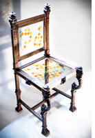 mosaiced neoclassical chair